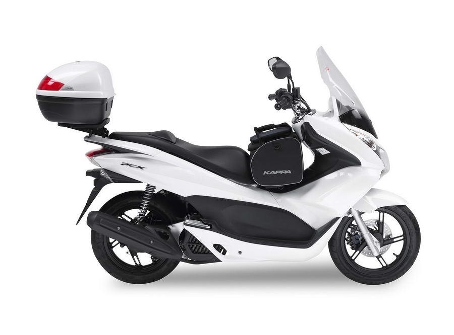 tu honda pcx 125 equipado a tope con kappa. Black Bedroom Furniture Sets. Home Design Ideas