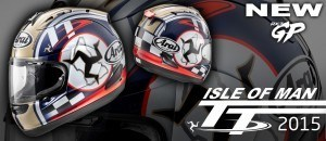 Casco Arai Isle Of Man TT Series Special Edition