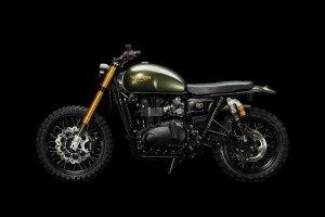 'The Hunter' una Triumph Scrambler suiza hipervitaminada