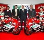 Presentación en Milán del equipo Gilera 125cc