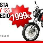 Hazte con una Derbi Cross City 125 por sólo 1.999 euros