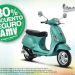 Piaggio España y AMV te ofreen hasta un 30% de descuento en el seguro de tu nuevo scooter