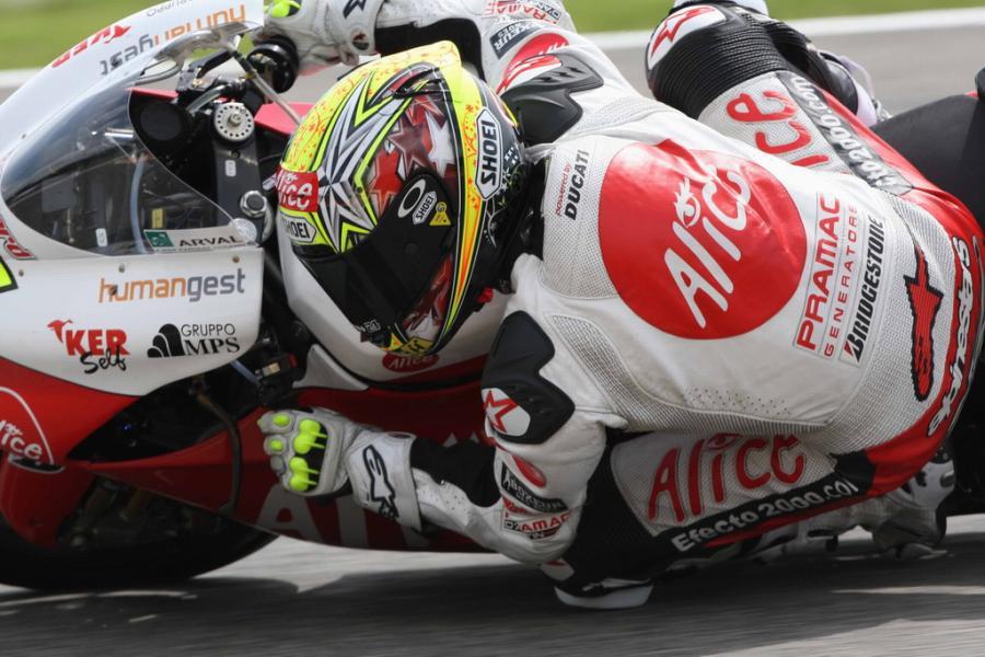 Imagen de archivo. Toni Elías en el GP de Italia 2008.