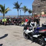 Cerca de un centenar de moteros recorren La Palma, V etapa de la Ruta Canarias 88