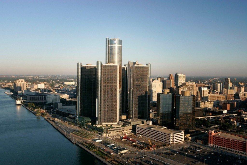 The GM Renaissance Center in Detroit, Michigan, USA, June 22, 2005. (General Motors/John F. Martin)