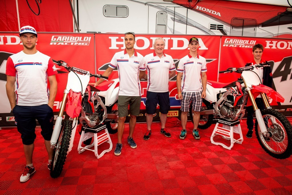 Paulin, Bobryshev, Gajser and Zaragoza unveil 2016 Honda CRFs at MXGP of Italy