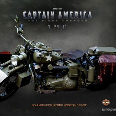 La Harley-Davidson «Liberator» del Capitán América en acción
