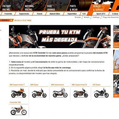 Prueba la KTM de tus sueños
