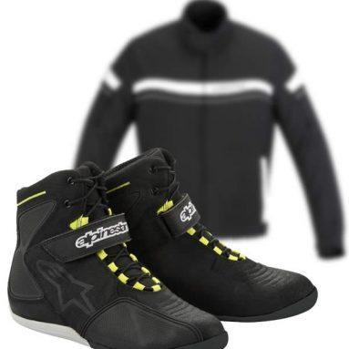 Chaqueta Alpinestars T-Fuel y botines Fastback WP Shoe, la combinación perfecta para ciudad