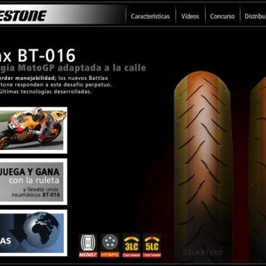 El BT016 de Bridgestone estrena nuevo microsite