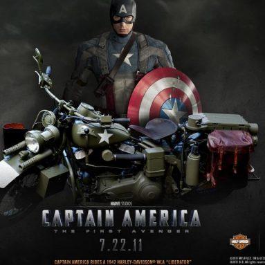 """Descárgate los wallpapers del Capitán América y la Harley-Davidson """"Liberator"""""""