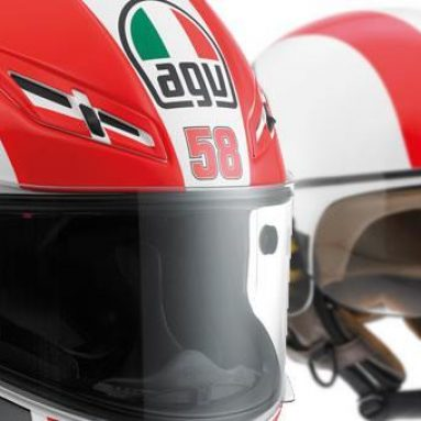AGV presenta sus dos cascos homenaje a Marco Simoncelli