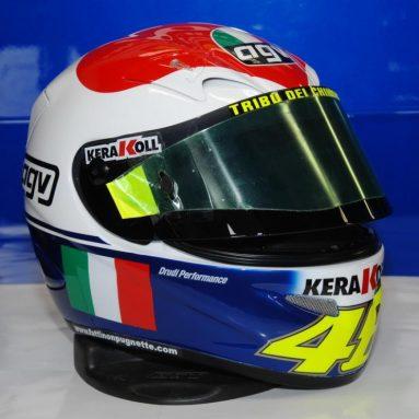 Dainese subasta el casco que Valentino Rossi utilizó en Mugello