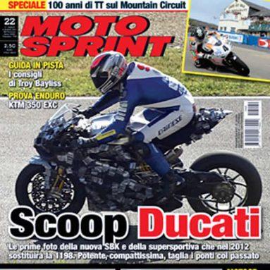 Moto Sprint caza la que será sustituta de la Ducati 1198