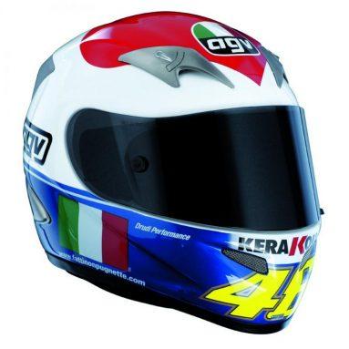Nuevo casco AGV Ti-Tech Cuore edición limitada, dedicada a los tifosi de Rossi