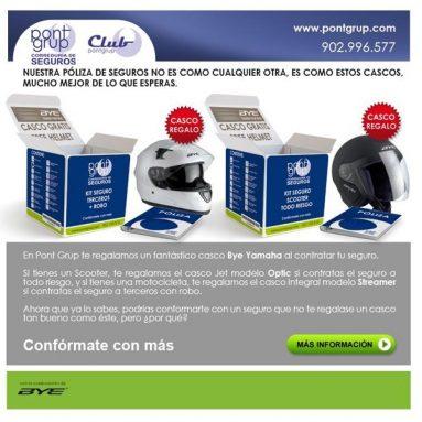 Pont Grup prorroga la promoción de casco gratis con tu seguro de moto