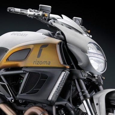 Rizoma también se atreve con la Ducati Diavel