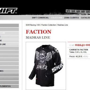 Shift estrena web en España presentando la nueva colección MX/Off-Road 2009