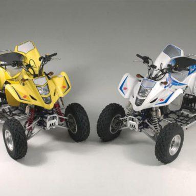 Suzuki lanza una edición limitada del quad LT-Z400 blanco y amarillo