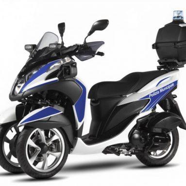 Nueva Yamaha Tricity 125 2016 para la policía